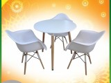 ABC Dining Table Rnd+3 Chair White