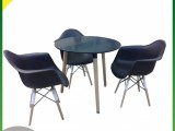 ABC Dining Table Rnd+3 Chair Black