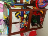 Wooden racks for toys, clothes, books etc