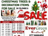 CHRISTMAS TREES & DECORATION ITEMS FOR SALE