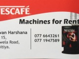 NESCAFE MACHINES FOR RENT
