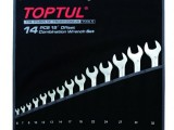 TOPTUL 15° OFFSET HI-PERFORMANCE COMBINATION WRENCH SET 14Pcs