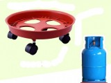 gas cylinder base movable trolley gas base