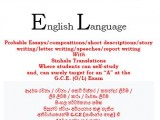 SELF-STUDY BOOK FOR G.C.E. O/LEVEL ENGLISH (ESSAYS/WRITING SKILLS)