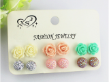 6pairs/set hot popular female ornaments, girls birthday party, beautiful flower ball