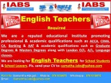 English Teachers Required