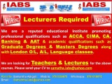 Lecturers Required