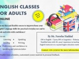 English for adults/ Business English/IELTS/TOEFL/English Literature