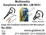 Earphone With Microphone 9031