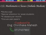 O/L Mathematics Classes ( Sinhala Medium )