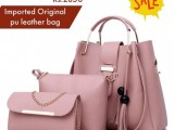 Imported pu leather women bag